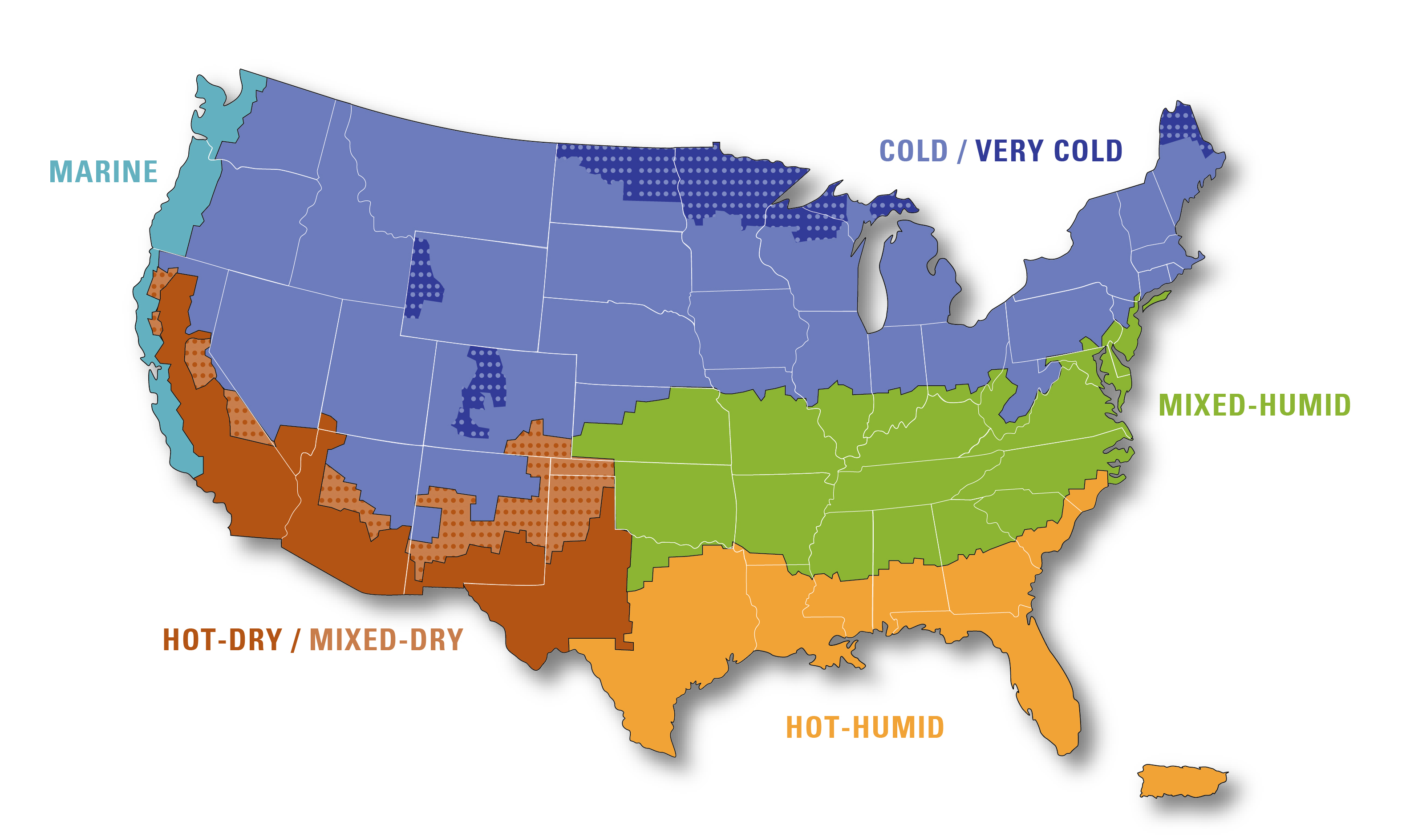 Building America Climate Zone Map