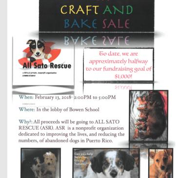 Craft & Bake Sale Reminder