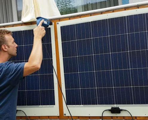 Solarmodule Montage Kunststoff