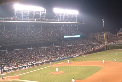 Image result for wrigley field lights images