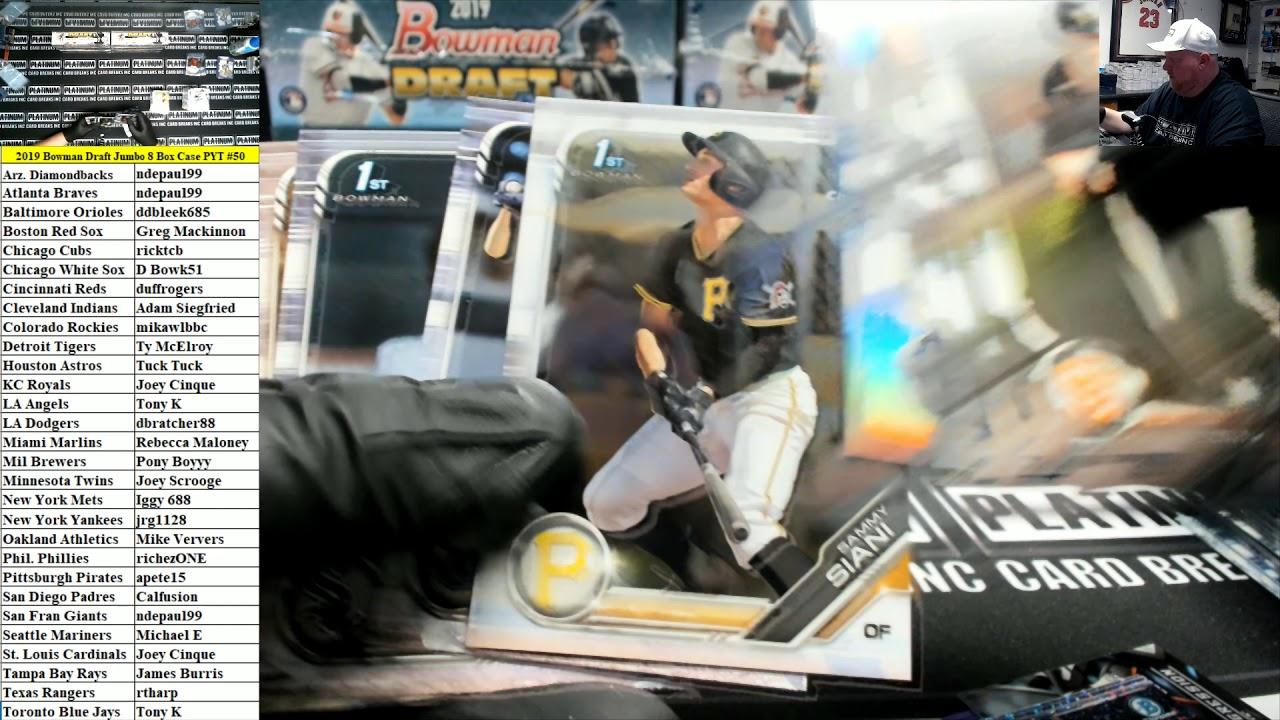 2019 Bowman Draft Baseball Jumbo 8 Box Case PYT 50 - 2019 Bowman Draft Baseball Jumbo 8 Box Case PYT #50