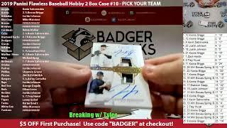 2019 Panini Flawless Baseball Hobby 2 Box Case 10 PICK YOUR TEAM - 2019 Panini Flawless Baseball Hobby 2 Box Case #10 - PICK YOUR TEAM