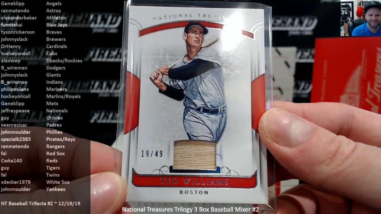 National Treasures Trilogy 3 Box Baseball Mixer 2 121919 - National Treasures Trilogy 3 Box Baseball Mixer #2 ~ 12/19/19