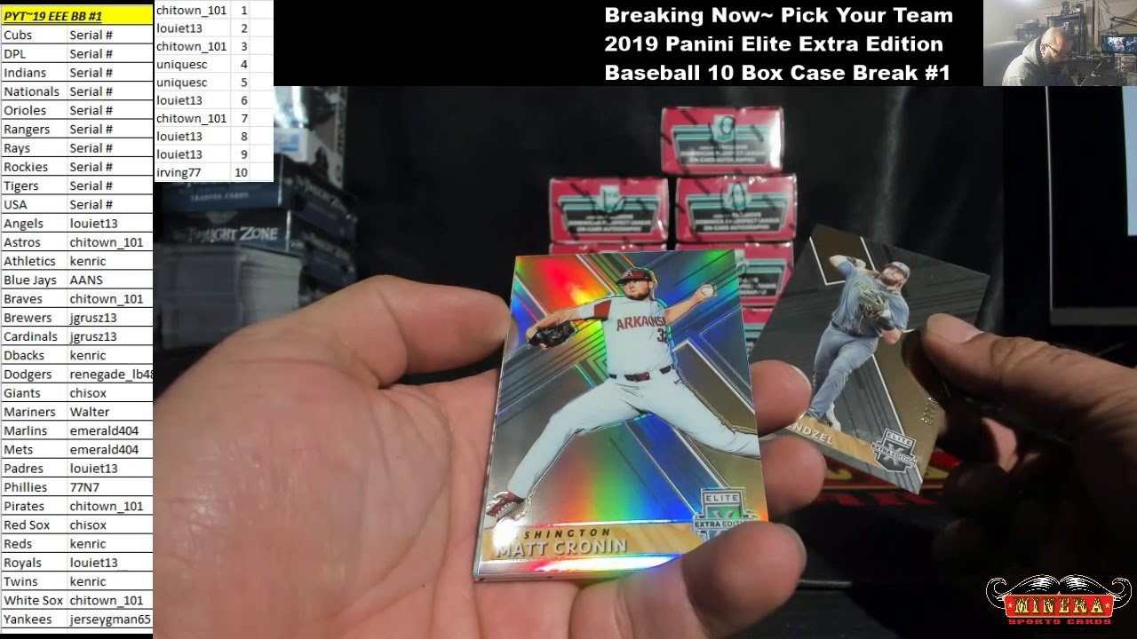 Pick Your Team2019 Panini Elite Extra Edition Baseball 10 Box Case Break 1 - Pick Your Team~2019 Panini Elite Extra Edition Baseball 10 Box Case Break #1