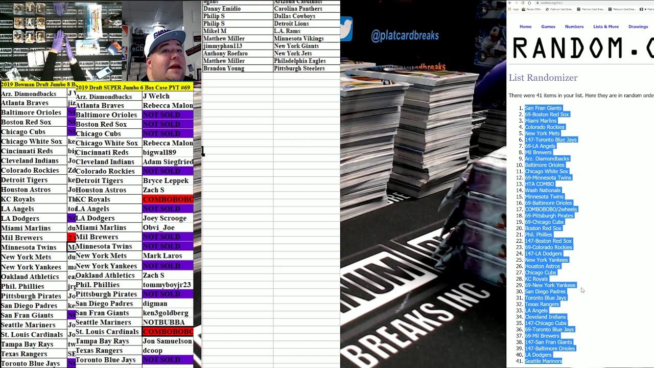 2019 Bowman Draft Baseball Jumbo 8 Box Case PYT 147 - 2019 Bowman Draft Baseball Jumbo 8 Box Case PYT #147