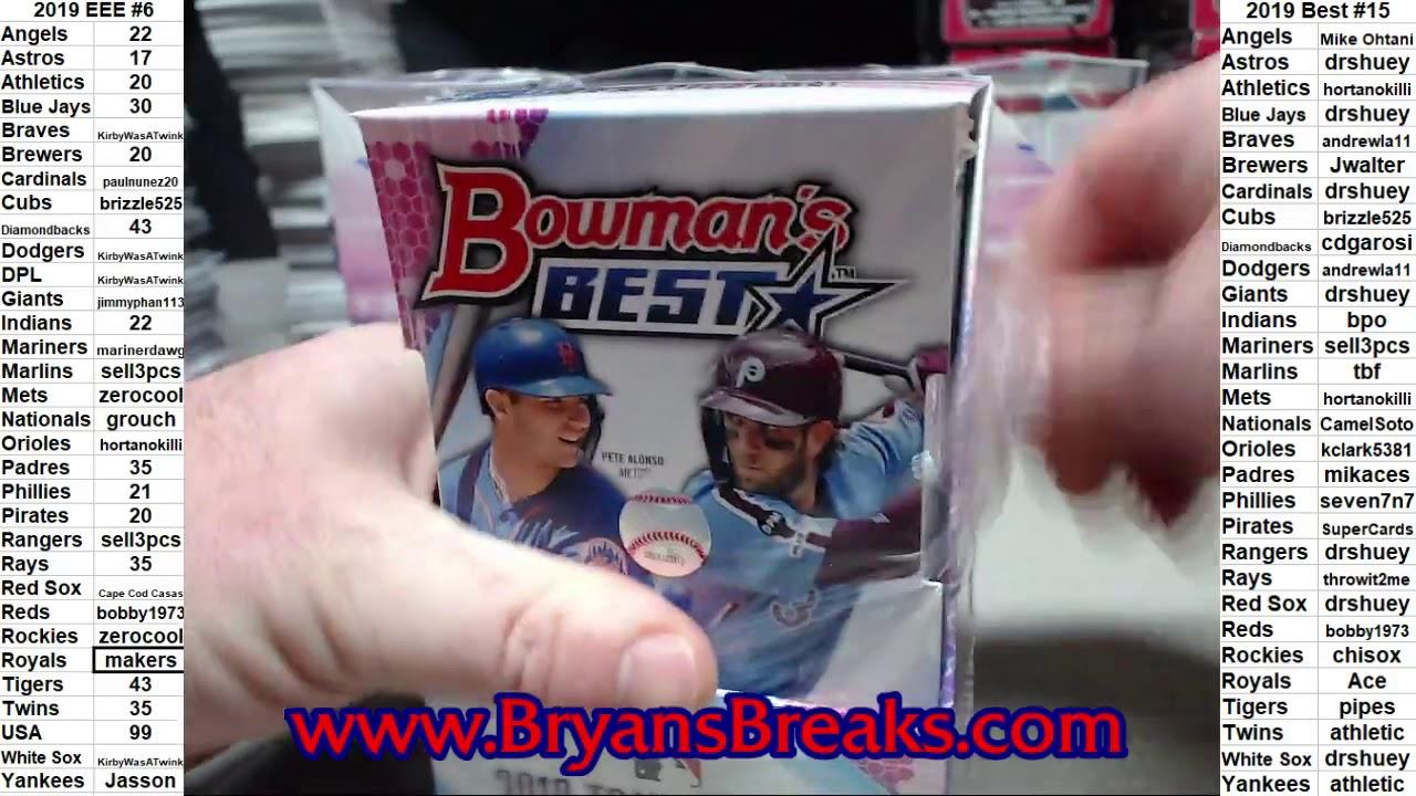 2019 Bowmans Best Baseball Hobby 8 Box Case PYT 15 - 2019 Bowman's Best Baseball Hobby 8 Box Case ~ PYT #15