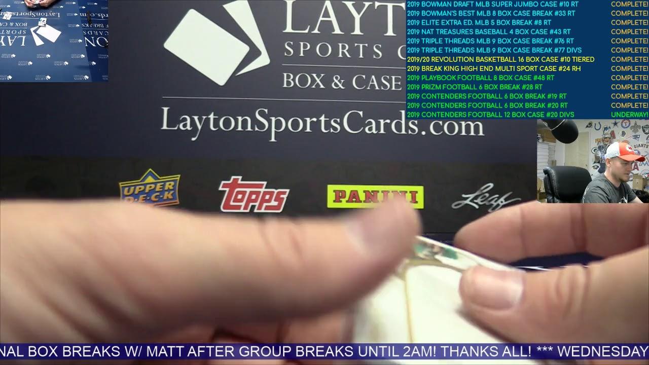 2019 Panini Immaculate Baseball 1 Box Break for Matthew M - 2019 Panini Immaculate Baseball 1 Box Break for Matthew M
