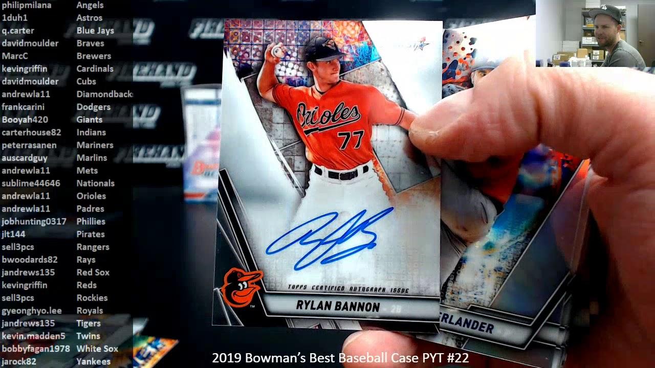 2019 Bowmans Best Baseball Case PYT 22 2220 - 2019 Bowman's Best Baseball Case PYT #22 ~ 2/2/20