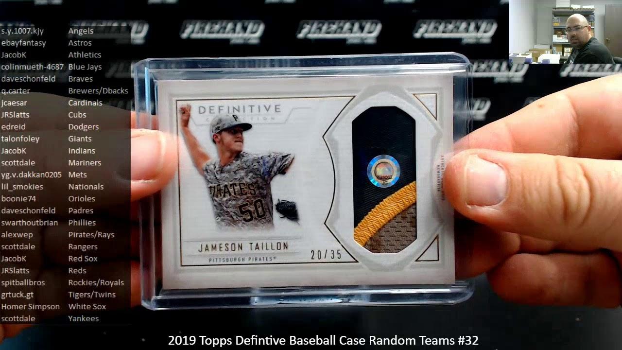 232020 2019 Topps Defintive Baseball Case Random Teams 32 - 2/3/2020 2019 Topps Defintive Baseball Case Random Teams #32