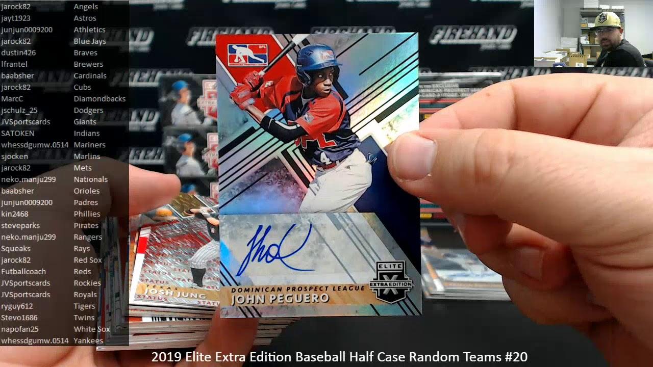 292020 2019 Elite Extra Edition Baseball Half Case Random Teams 20 - 2/9/2020 2019 Elite Extra Edition Baseball Half Case Random Teams #20