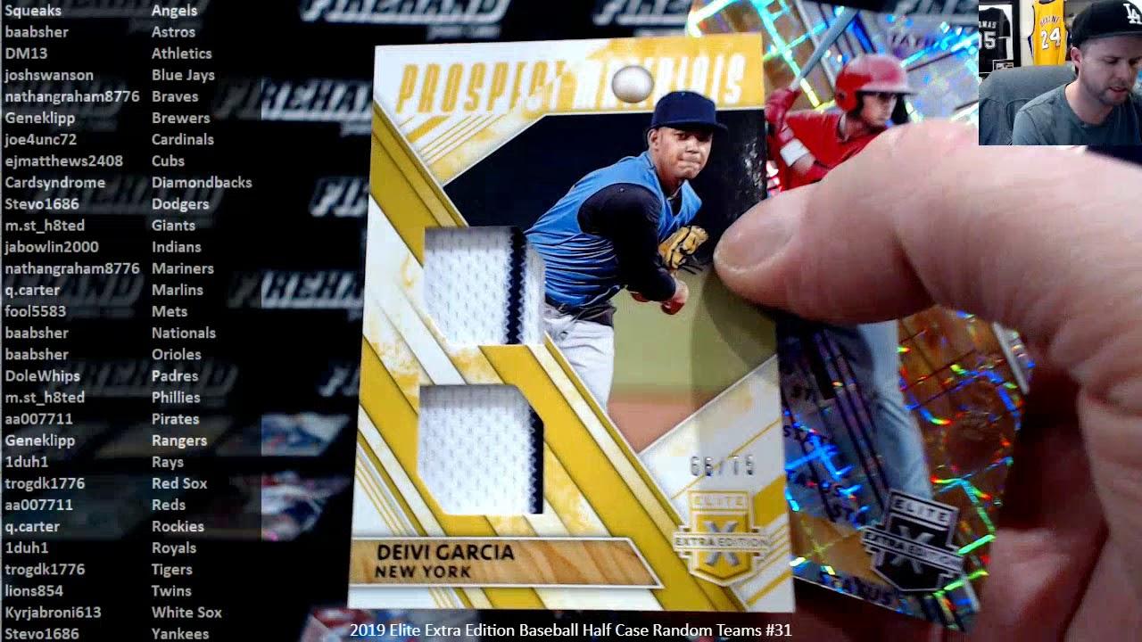 2019 Elite Extra Edition Baseball Half Case Random Teams 31 31320 - 2019 Elite Extra Edition Baseball Half Case Random Teams #31 ~ 3/13/20