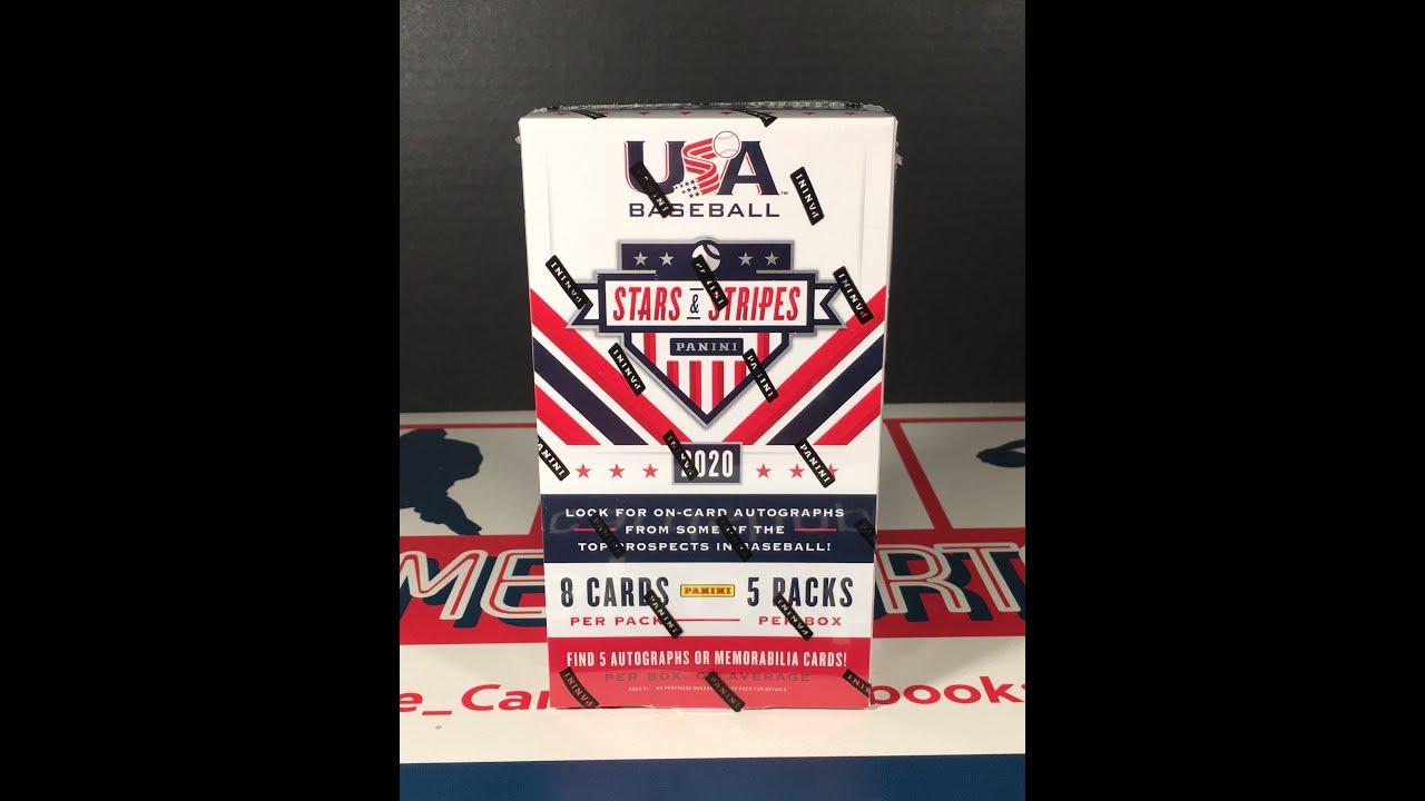 2020 USA Baseball Stars and Stripes Hobby Box Break - 2020 USA Baseball Stars and Stripes Hobby Box Break