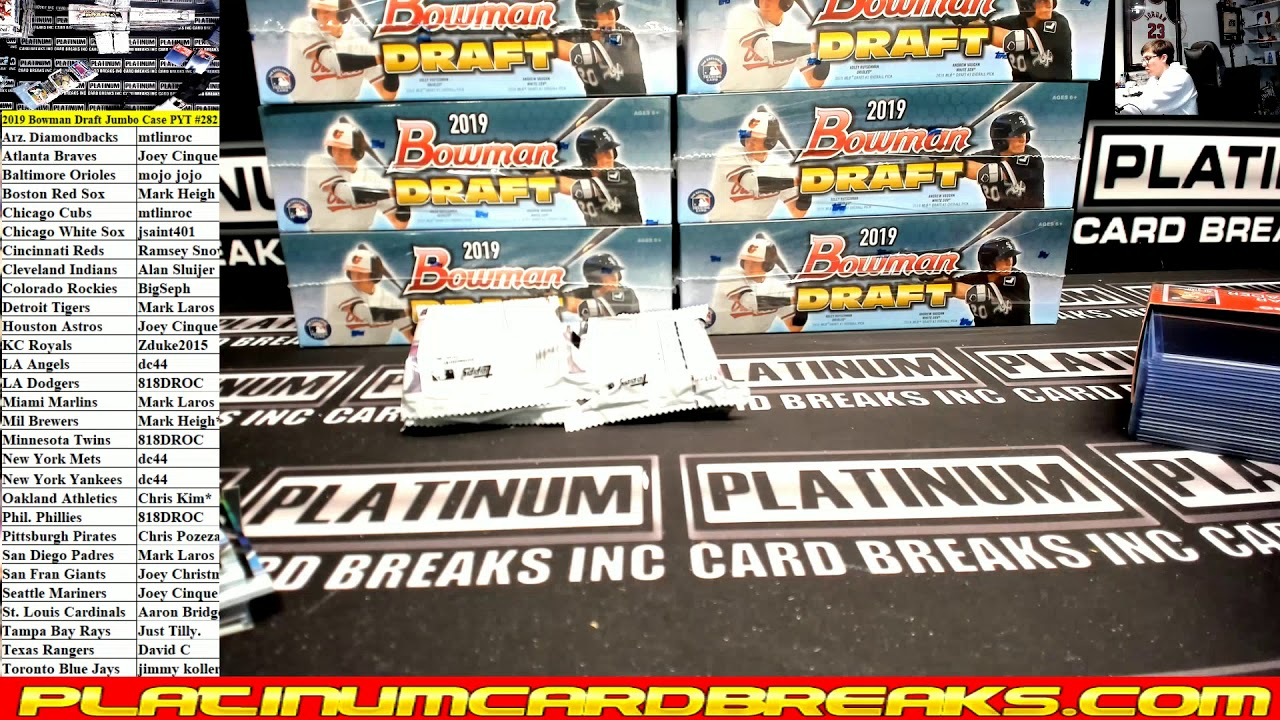 2019 Bowman Draft Baseball Jumbo 8 Box Case 282 - 2019 Bowman Draft Baseball Jumbo 8 Box Case #282