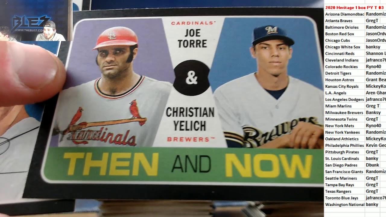 2020 Topps Heritage Baseball 1 Box Break PYT 3 - 2020 Topps Heritage Baseball 1 Box Break PYT #3