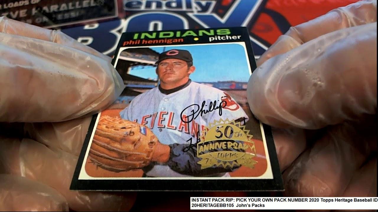 2020 Topps Heritage Baseball Johns Packs ID 20HERITAGEBB105 - 2020 Topps Heritage Baseball John's Packs ID 20HERITAGEBB105