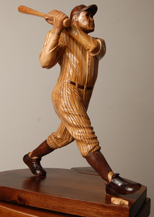 "Bambino (18"" Mahogany sculpture on Mahogany base)"