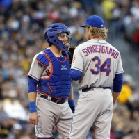 Must See Picture: Noah Syndergaard Makes His Mark On Fellow Teammate, Kevin Plawecki