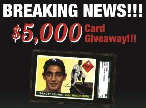 Sandy Koufax Giveaway
