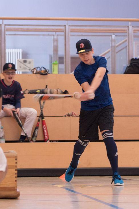 Justin at bat