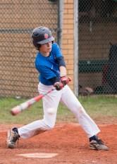 Erik - hitting - a low outside ball