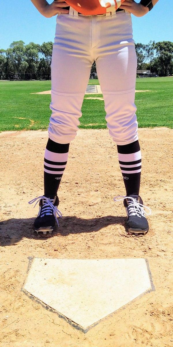 Black White OTC Baseball Socks