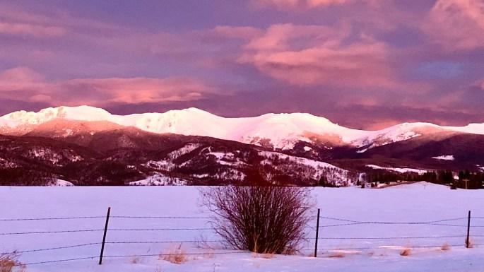 Sunset in Tabernash CO
