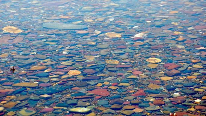 Great Montana Adventure, The infamous colored rocks of Lake McDonald, Glacier National Park