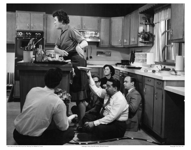 Julia Child and producers, circa 1963