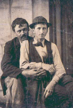 happy valentine's day couple 1870s