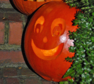 Happy the Pumpkin on the night he was born