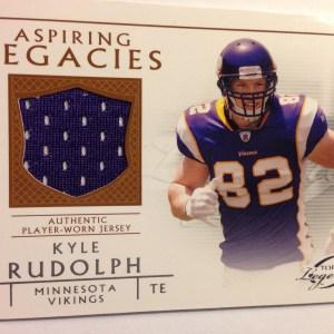 2011 Topps Gridiron Legends Aspiring Legacies Relics #ALR-KR Kyle Rudolph