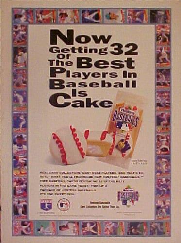 1993 Hostess Baseball Promotional Poster