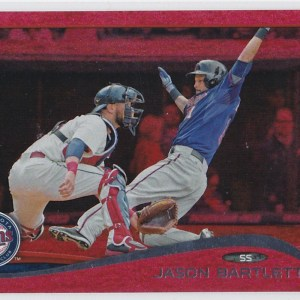 2014 Topps Update Red Sparkle Jason Bartlett