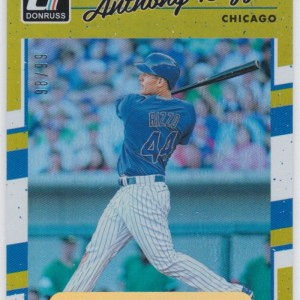 2017 Panini Donruss Press Proof /99 Anthony Rizzo