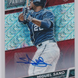 2016 Panini National VIP Red Mojo Prizm /15 Autograph Miguel Sano