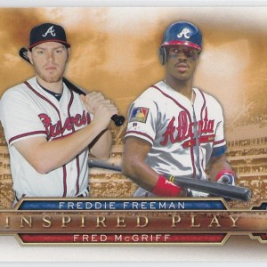 2015 Topps Inspired Play Freddie Freeman Fred McGriff