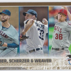 2015 Topps Gold /2015 Kluber, Scherzer & Weaver Wins Leaders