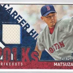 2015 Topps Career High Relics Daisuke Matsuzaka