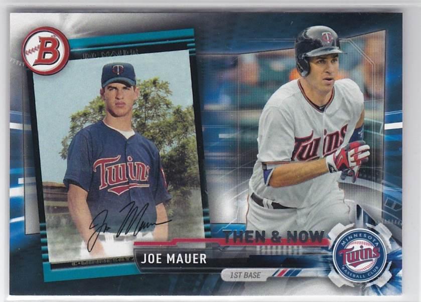 2017 Topps Then & Now Joe Mauer