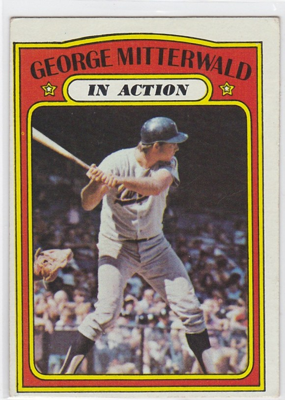 1972 Topps In Action George Mitterwald