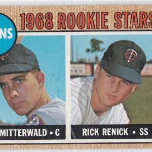 1968 Topps Rookie Stars Geo. Mitterwald Rick Renick