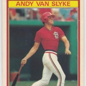 1986 Kay Bee Superstars Andy Van Slyke