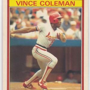 1986 Kay Bee Superstars Vince Coleman