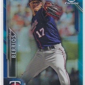 2015 Bowman Chrome Blue Refractor /150 Jose Berrios RC