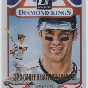 2014 Panini Donruss Diamond Kings Stat Line /323 Joe Mauer