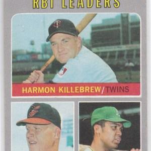 1970 Topps Boog Powell, Reggie Jackson, Harmon Killebrew