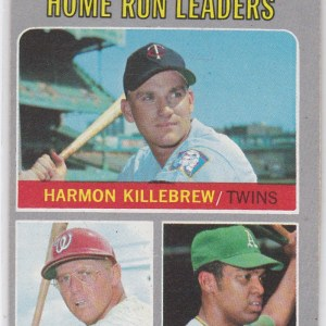 1970 Topps Frank Howard, Reggie Jackson, Harmon Killebrew