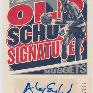 2016-17 Panini Prestige Old School Signatures Alex English
