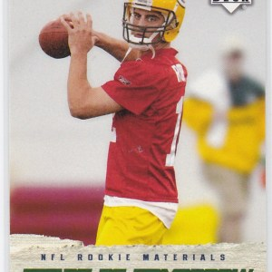 2005 Upper Deck Rookie Materials Stars of Tomorrow Aaron Rodgers RC