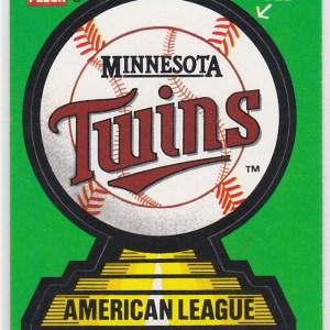 1988 Fleer Team Stickers Minnesota Twins